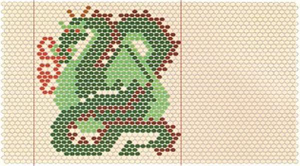 Мозаичное схема плетения из бисера