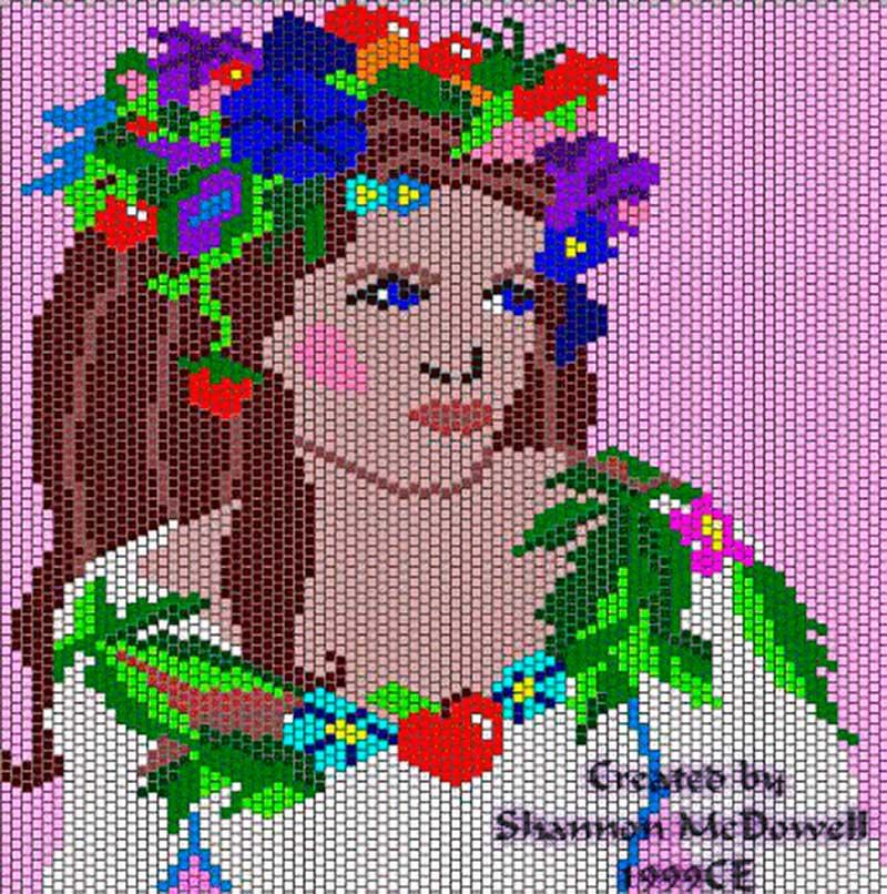 Бисер мозаичное плетение картины схемы.